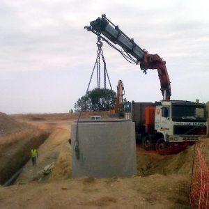 Trabajos de hormigonado en obra civil y obra hidráulica